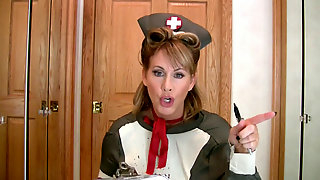 Nurse in Nylon Mask JOI