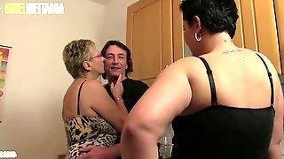 Amateur euro katarzyna s. & erna shares cock in hot ffm sex