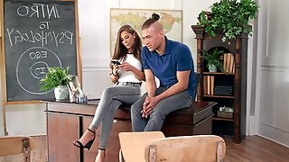 Big boos boos Madison Ivy fucked on the office table by her assistant