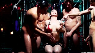 Hardcore gangbang with natural jugs amateur chick Isabel Ice