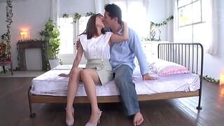 Horny Japanese wife Nagareda Minami moans during passionate sex
