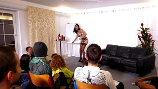 Busty cougar Jasmine Jae gets fucked during Sex Ed lessons