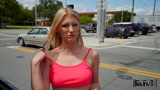 Blondie with nice breasts Melody Marks hooks concerning with barely known guy