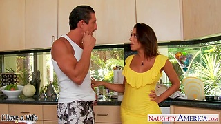 Married man Tommy Gunn is cheating on the top of his wife with hot busty Rachel Starr