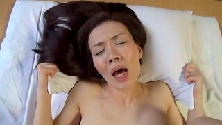 Consolidated boobs Japanese darling opens her legs to be fucked in monk