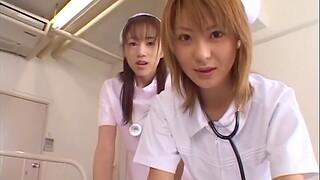 Asian nurses team up to shot sex with a patient - Naho Ozawa