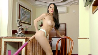 TS Beauty Mariana Lins Banged by Outfit