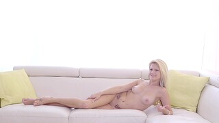 Gorgeous Hope Harper makes a dick disappear in her tight cunt