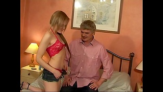 Fit amateur Layla masturbates increased hard by gets fucked hard by an doyenne man