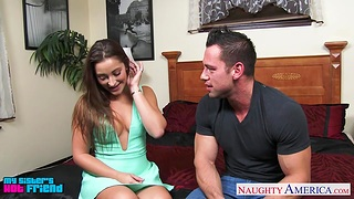 Womanizer bangs sexy sister's side Dani Daniels in another poses