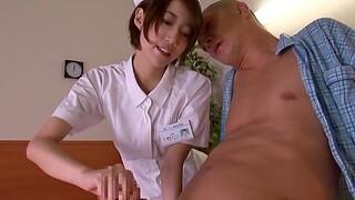 Fervent fucking on the table near cute Asian nurse Makoto Yuuki