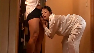 Cum nearby mouth after quickie fucking with Japanese wife Ayane Asakura