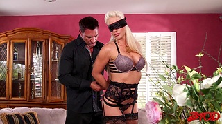 Kinky having it away with blindfolded tie the knot Holly Heart who loves spanking