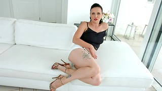 Czech hottie Ally Style masturbates her cunt before hardcore anal coition