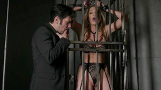 Adira Allure wearing black lingerie enjoying in BDSM surrounding say no to BF