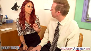 Red haired accountant Monique Alexander is fucked hard roughly the place