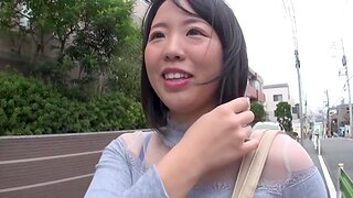 Cute Japanese girlfriend getting fucked approximately a homemade motion picture