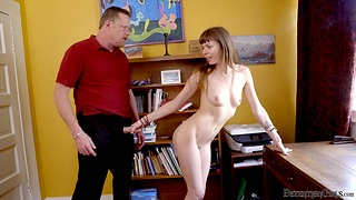 Small boobs brunette Alex Blake enjoys getting fucked wide of a stranger