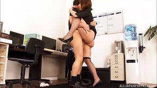 Deep vaginal orgasms in sweet office hardcore tryout