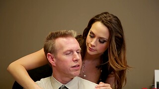 Deluxe secretary Chanel Preston gives a blowjob together with gets fucked