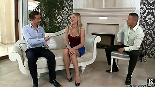 Lucy is double penetrated by her husband and his best friend