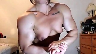 Muscle webcam girl