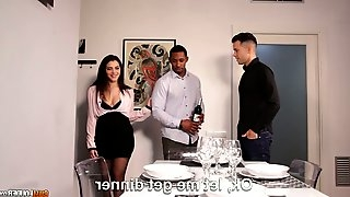 Captivating Italian hottie Valentina Nappi is fucked by boyfriend and his black neighbor